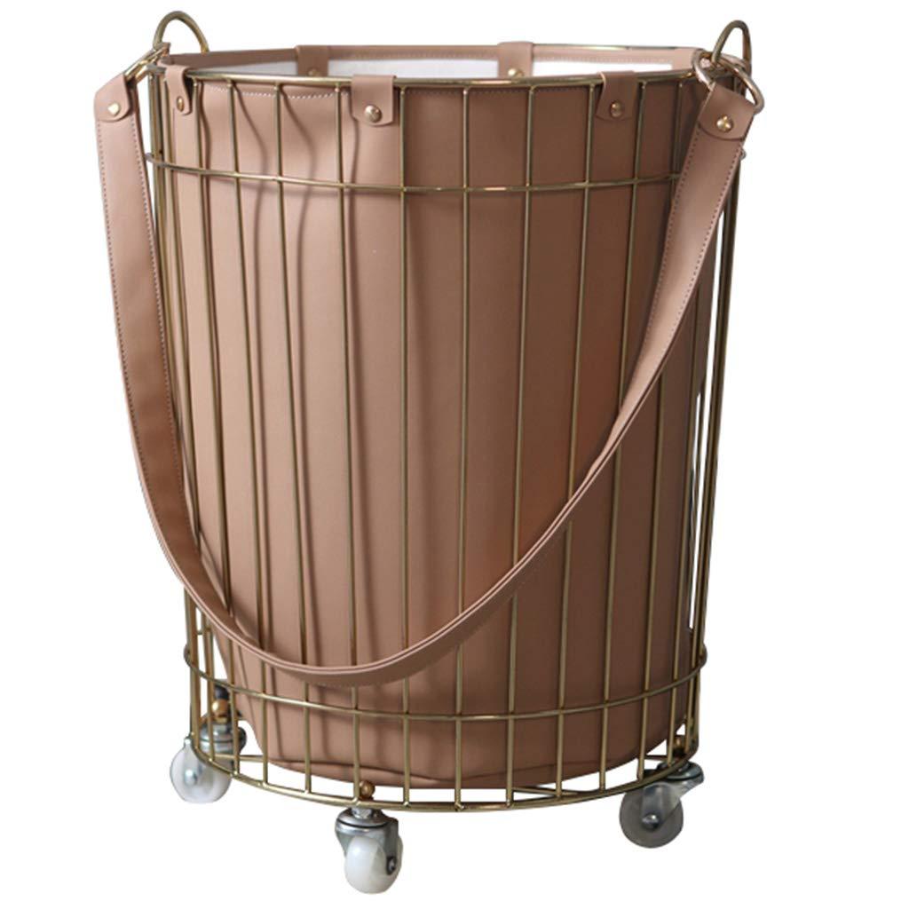 Laundry Baskets Leather Hamper Sundries Storage Basket Toy Storage Basket Shelf (Color : Brown, Size : 303548cm/121419inch)
