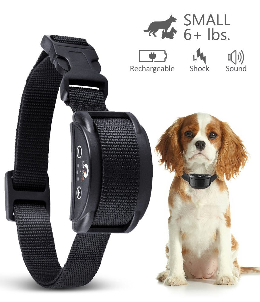 Paipaitek 2018 New Upgraded Dog Bark Collar and Anti Barking Collar with 5 Levels Automatic Rechargeable No Bark Collar for Small Medium Large Dogs Humane Shock Stop Bark … (bark collar)