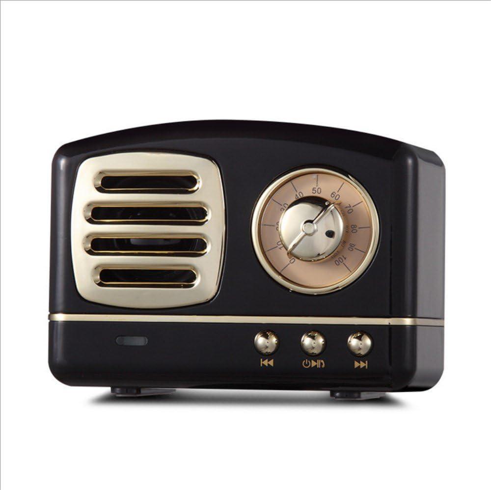 VUKUB Altavoz Bluetooth Retro Subwoofer del Teléfono Radio Retro Creativa Mini Tarjeta Inalámbrica Pequeño Audio,Black