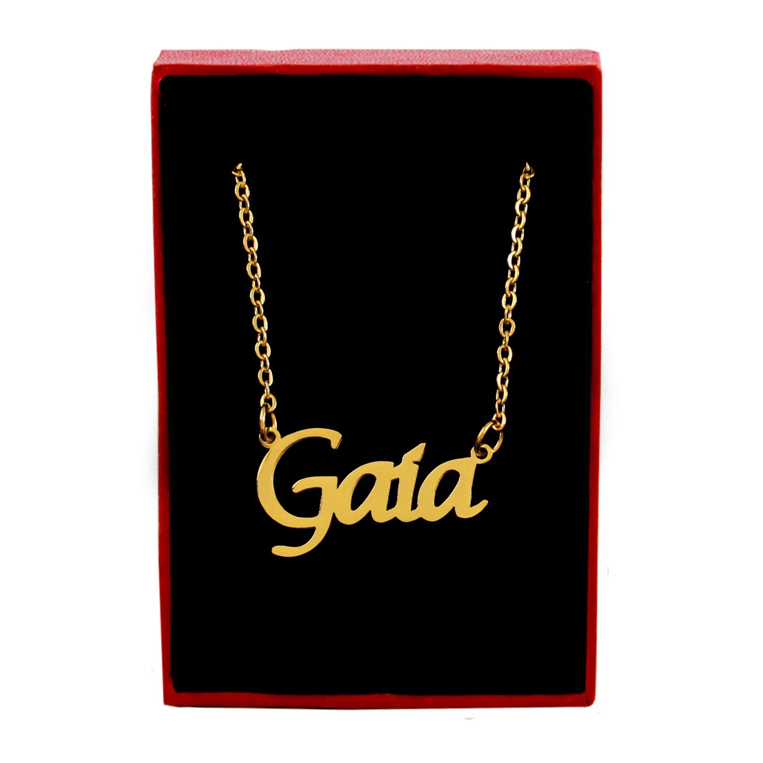 Kigu Gaia Custom Name Necklace Personalized 18ct Gold Plated