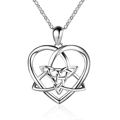 Sterling silver vintage irish celtic knot love heart pendant sterling silver vintage irish celtic knot love heart pendant necklace 18 aloadofball Images