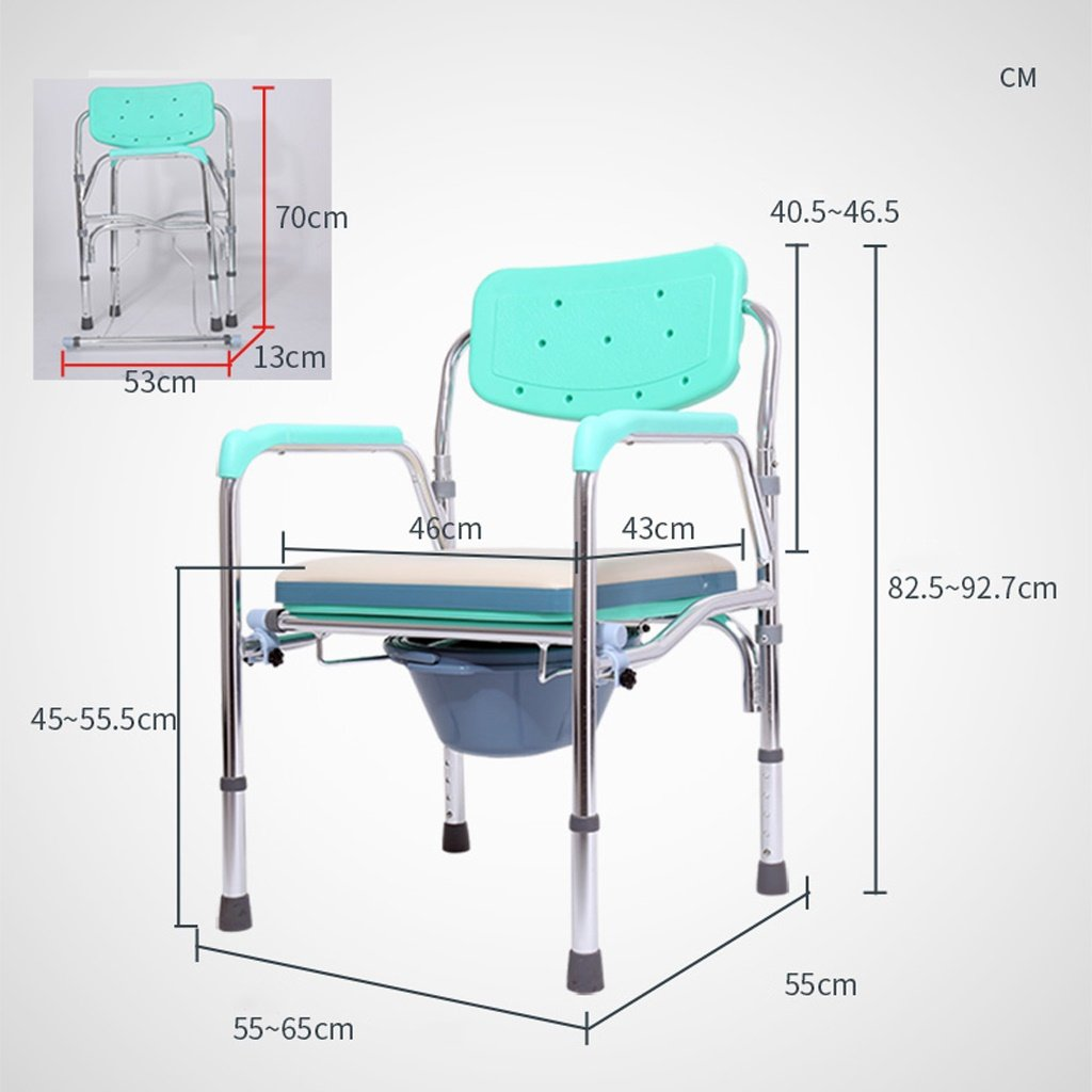 Ali Padded elderly toilet chair stainless steel folding stool with ...