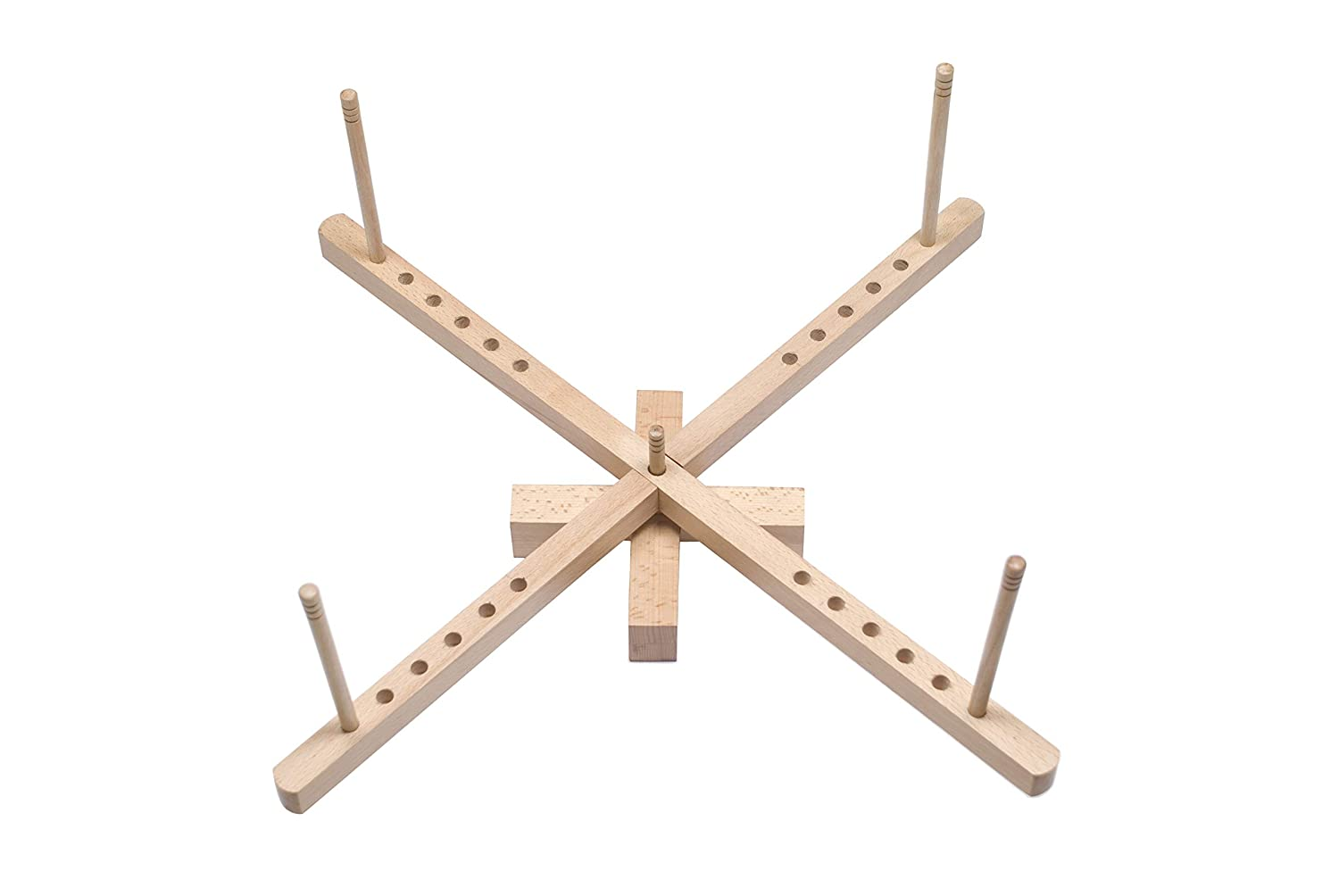 Handmade Tabletop Amish Style Wooden Yarn Swift – Made from Solid Beech Wood–Easy to Assemble. Perfect Gift for Any Memorable Occasions - Handcrafted by Indians Artisans! HandzCraft