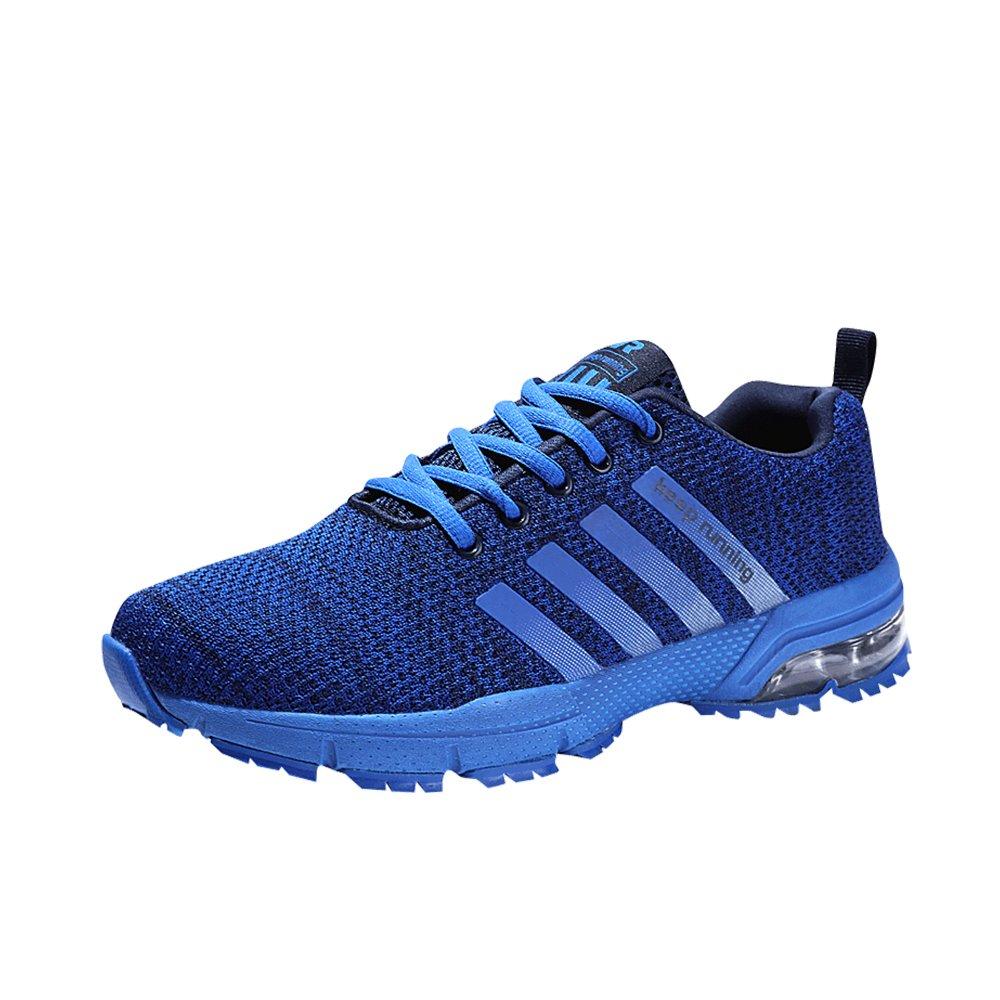 MUOU Sneaker Herren Laufschuhe Breathable Herren Turnschuhe Sport Outdoor Schuhe Mode Schuhe  46 EU|Blau