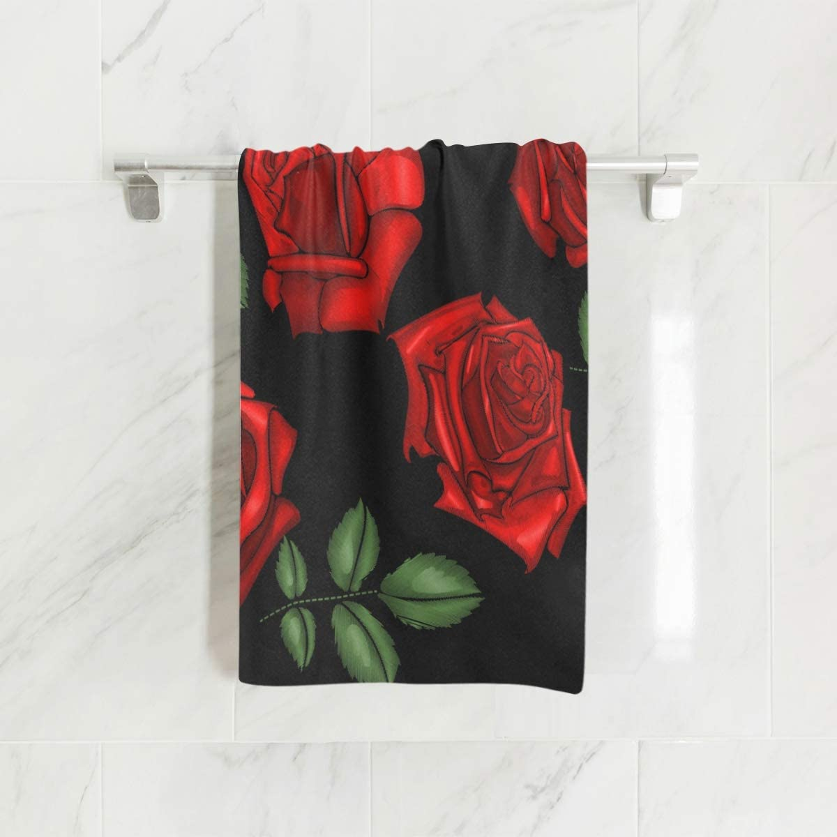 Red star flower towels