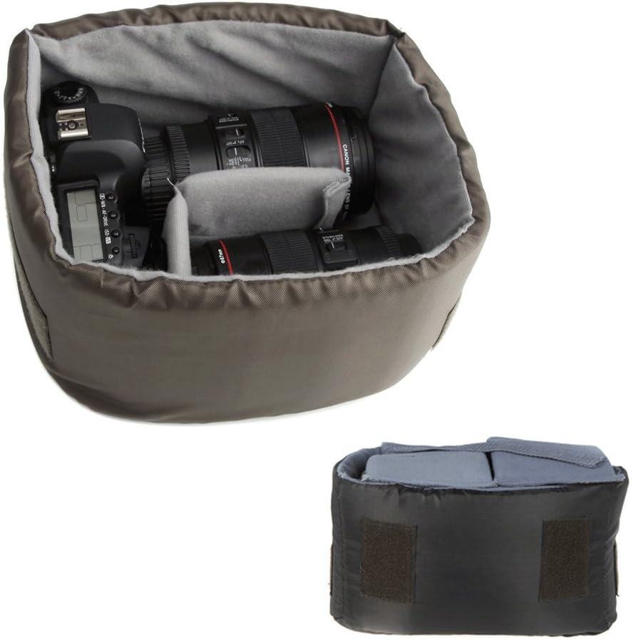 Caden F5 - Bolsa de lona vintage para cámara DSLR, color caqui ...