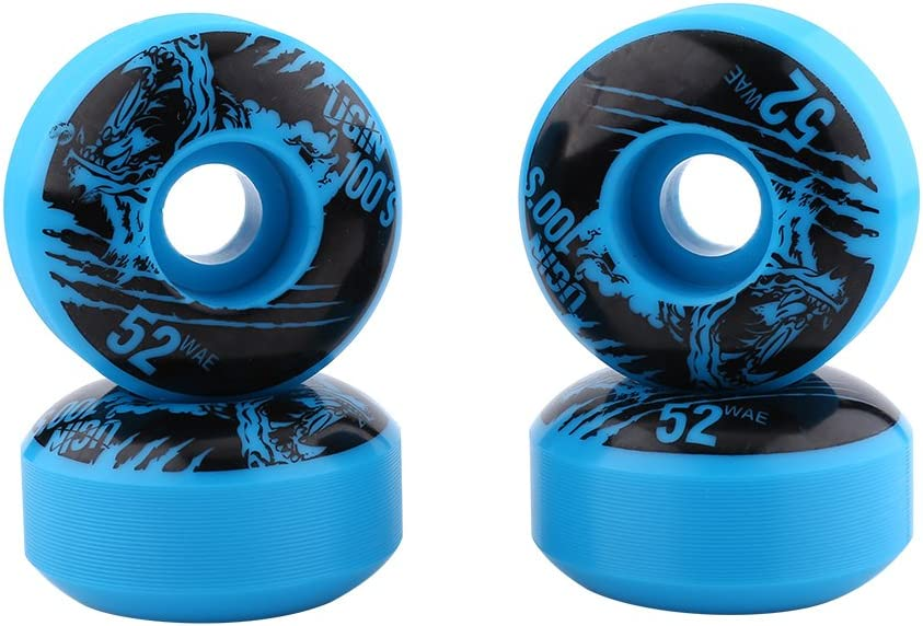 4 Unids//se Ruedas de Skate Al Aire Libre Cl/ásico 52mm x 30mm PU Cruiser Longboard Skateboard Juego de Reemplazo de Ruedas
