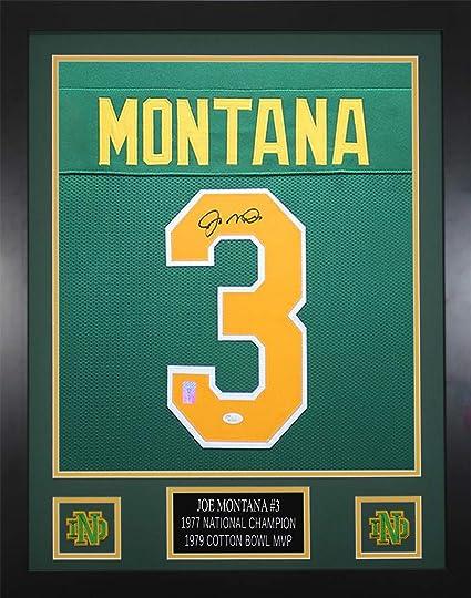 wholesale dealer 18f93 67f1b Joe Montana Autographed Green Notre Dame Jersey ...