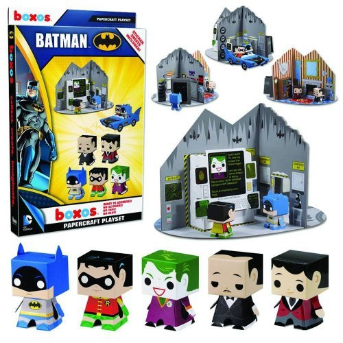 "Batman: Boxos Papercraft ~4"" Figure Playset"