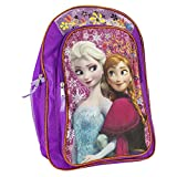 Fast Forward Disney Frozen Anna & Elsa Purple Backpack