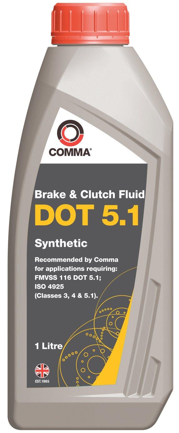 Comma BF51L 1L Dot 5.1 Synthetic Brake Fluid Comma Oil & Chemicals Ltd.