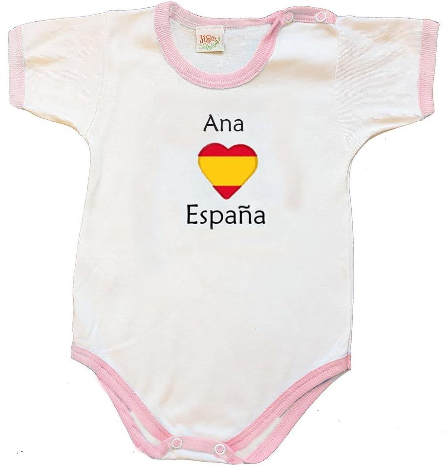 Zigozago - Body Mameluco bebè ESPAÑA - Talla: 12 Meses Color: Rosa - para el artículo Personalizado, Seleccione https://www.Amazon.es/dp/B07DWP9KZV: Amazon.es: Bebé
