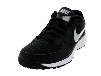 timeless design f90a5 ee12c Nike 524640 Men s Lunar MVP Pro Pregame Training Shoes, Black Metallic  Silver White