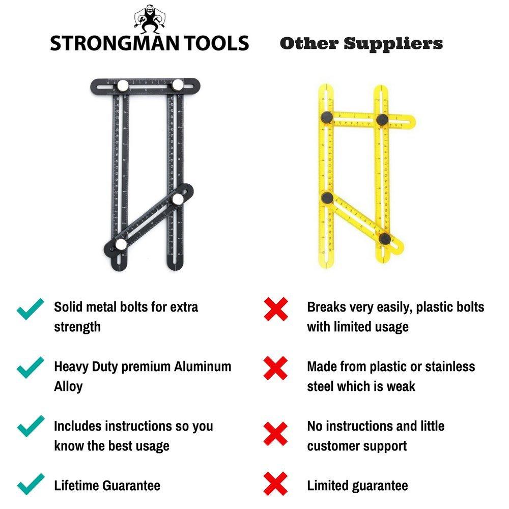 Strongman Tools Heavy Duty Aluminum Angleizer Template Tool