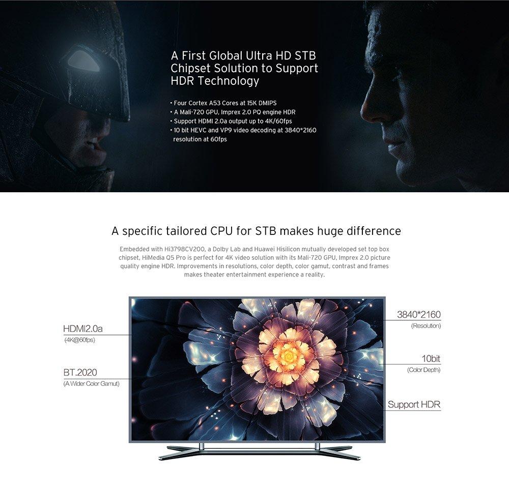 Himedia Q5 Pro Android 51 4K TV