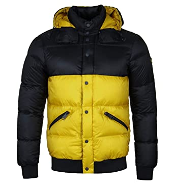 70661fc01349 Armani Jeans Men s Plus Size Quilted Nylon Down Padded Hooded Jacket   Amazon.in  Clothing   Accessories