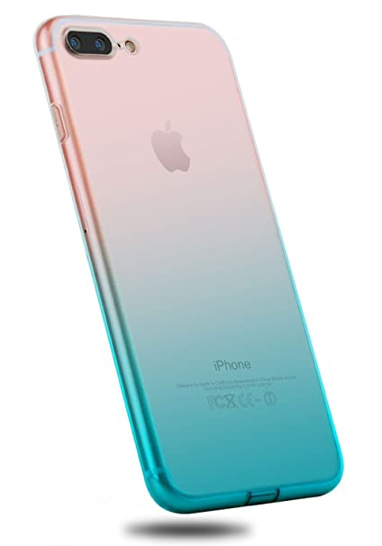 75ce3458ddb YOMYM Funda IPhone 8 Plus, Funda IPhone 7 8 Plus Colorida, Funda Slim  Transparente, Funda Protectora ...