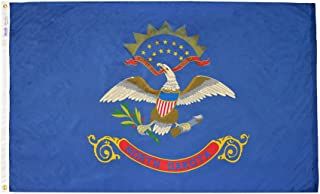 product image for Annin Flagmakers Model 144170 North Dakota State Flag 4x6 ft. Nylon SolarGuard Nyl-Glo 100% Made in USA to Official State Design Specifications.