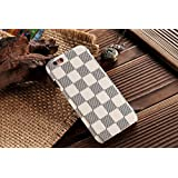 """HeiL® iPhone6s TPU *Fast US Deliver Guarantee Fulfilled by Amazon* New Elegant Luxury High Quality PU Leather Checker Pattern Classic Style Cover Case For Apple iPhone6 iPhone 6 6S 4.7"""" (White)"""