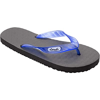 "Locals Original Slippa 13.0"" Black/Transparent Blue - Sizing: Men Size US 12.5-13.5 - Flip Flop Slipper Sandals 