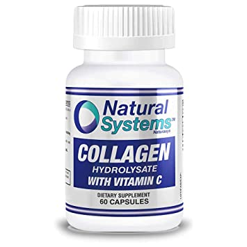 Natural Systems. Collagen With Vitamin C 60 capsules | Anti-Aging Nutritional Supplement Rich