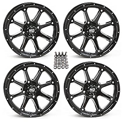 amazon com: sti hd4 atv wheels/rims black 12