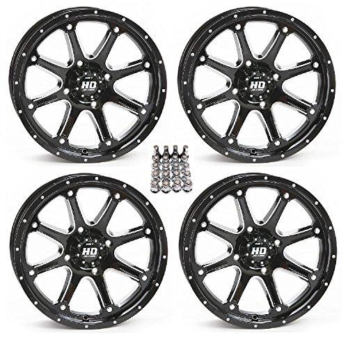 STI HD4 ATV Wheels/Rims Black 12