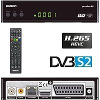 Edision Piccol Lino DVB-S2Full HD Ricevitore satellitare H.265/HEVC lettore di schede USB Ricevitore Via Cavo Nero