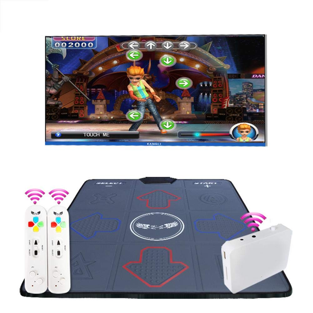 Assiduousic Dance Mats, Wireless Anti-Slip Weight Loss Slimming Exercise Fitness Massage Somatosensory Dance Machine with Computer TV Dual Use, Support Memory Card Download by Assiduousic (Image #6)