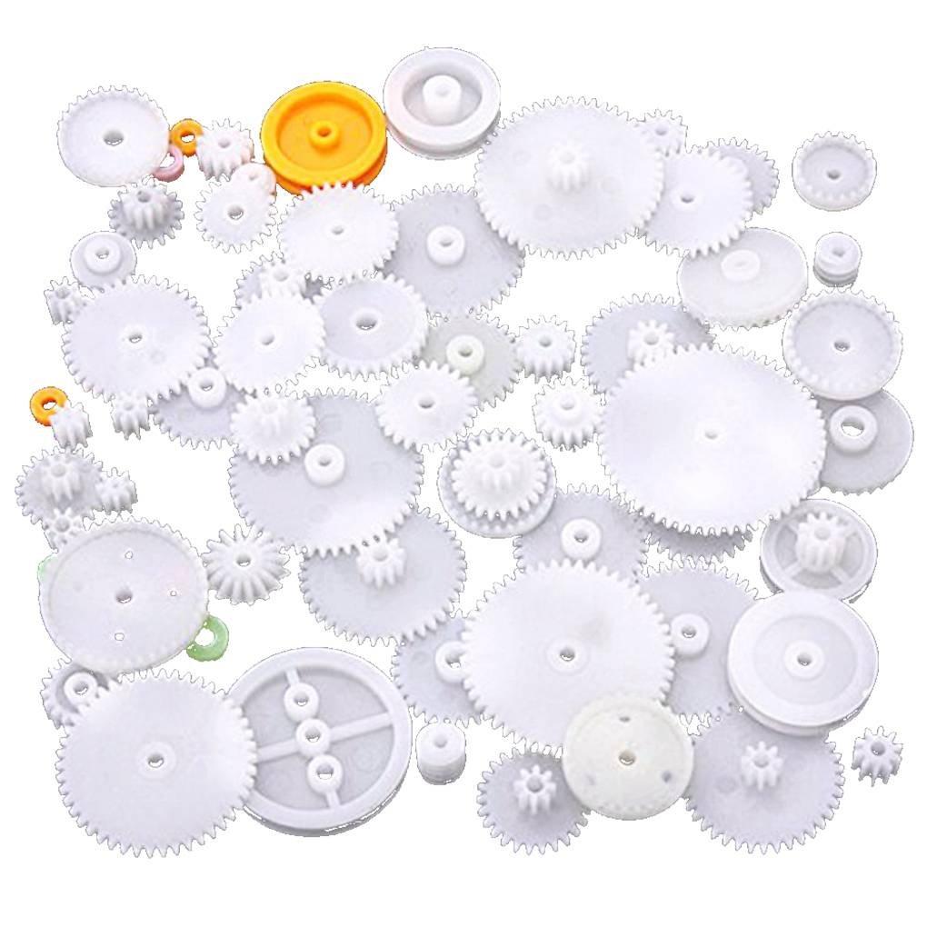 Kunststoff-Lager Gear Set verschiedene Arten von Zahnradpaket Spielzeug Autozubehör Motor Getriebe DIY Schneckenachse Riemen -lager