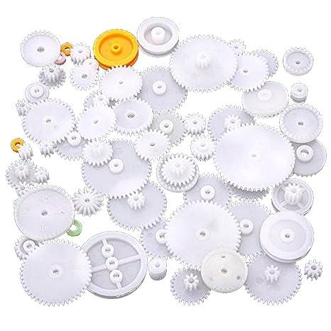 Fish Engranaje de rodadura de plástico preparar varias clases de engranaje paquete de coches de juguete accesorios del motor del engranaje de gusano ...