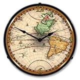 Cheap World Map of 1730 Lighted Clock