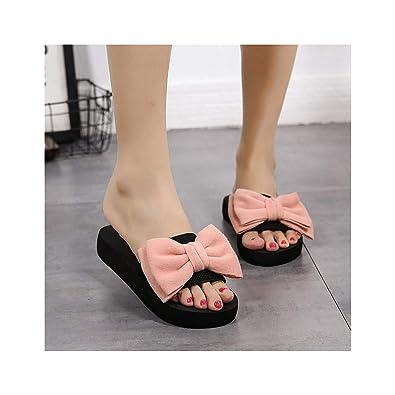 best website d25e0 2dd2c Amazon.com | YoYou Bow Slippers Satin Slides Women Sandals ...
