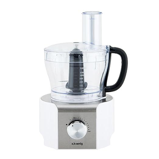 H.Koenig MX18 Procesador de Alimentos multifunción Blanco, 800W, 1 ...