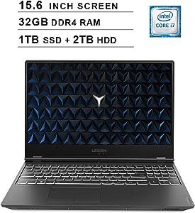 Lenovo 2020 Legion Y540 15.6 Inch FHD IPS Gaming Laptop (9th Gen Intel 6-Core i7-9750H up to 4.5 GHz, 32GB RAM, 1TB PCIe SSD + 2TB HDD, Nvidia GeForce GTX 1660 Ti, Bluetooth, WiFi, HDMI, Windows 10)