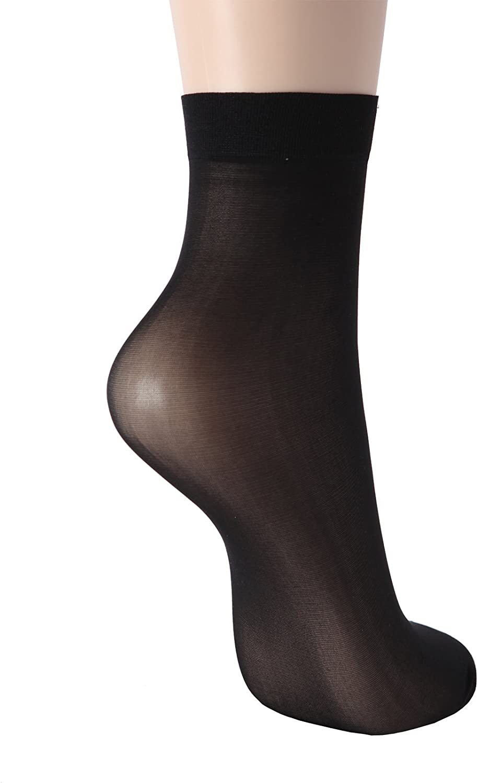 OSABASA 5 or 10 pairs 20D Sheer ankle high tights hosiery socks