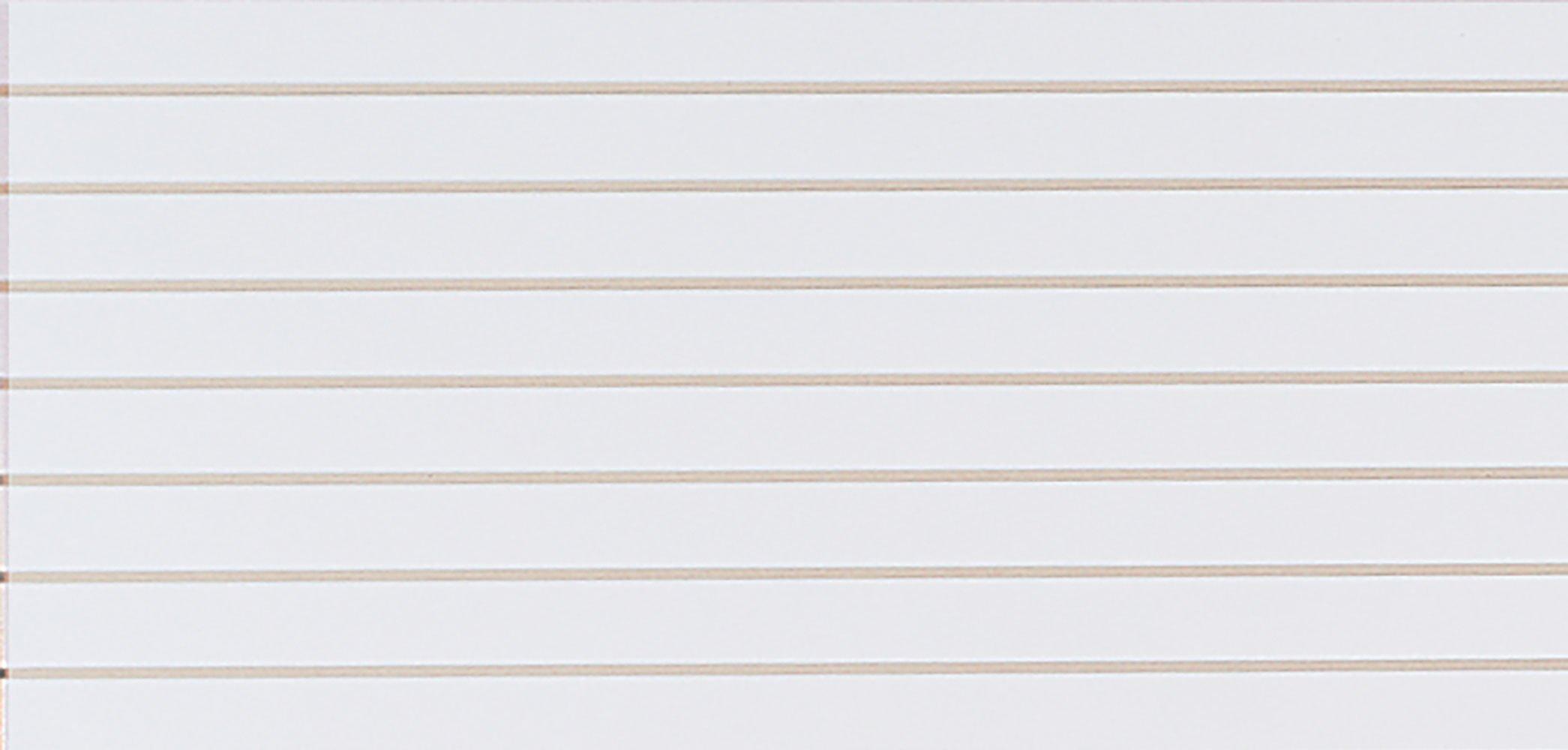 4 x 2 Foot Horizontal White Slatwall Easy Panels - Pack of 2