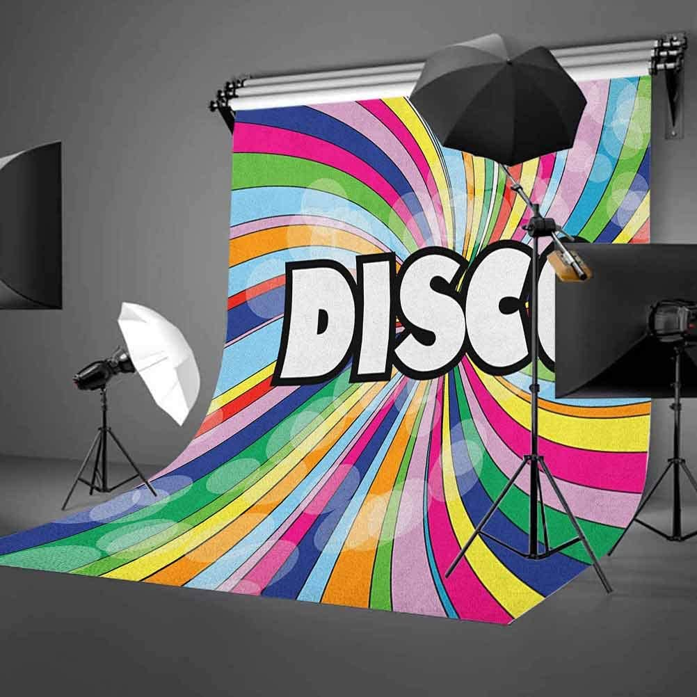 6x6FT Vinyl Wall Photography Backdrop,Indie,Vintage Spiral Colorful Background for Party Home Decor Outdoorsy Theme Shoot Props