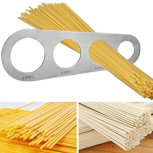 iTimo - Cuchillos para Espaguetis (Acero Inoxidable, 4 Agujeros)