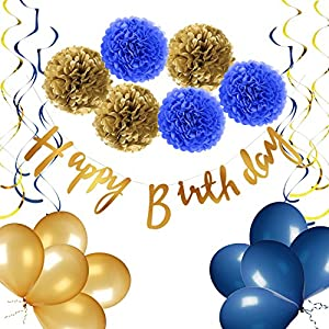 Amazon Giveaway Yotruth Navy Blue Birthday Decorations For Birthday