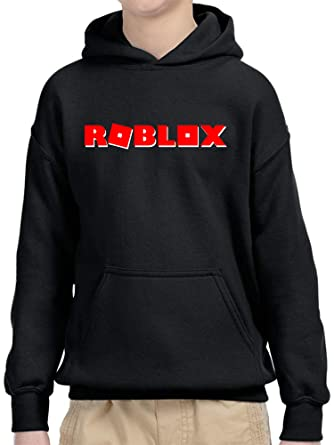 5ccce4f98371da New Way 922 - Youth Hoodie Roblox Logo Game Filled Unisex Pullover  Sweatshirt Small Black