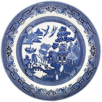 Churchill Blue Willow Plate 10  (Set ...  sc 1 st  Amazon.com & Amazon.com | Churchill Blue Willow Plate 10