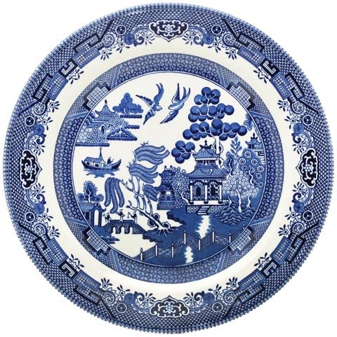 Churchill Blue Willow Plate 10