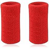 mcolics 6pulgadas de muñeca Sweatband en 11diferentes colores–Athletic algodón pulseras brazaletes (1par)
