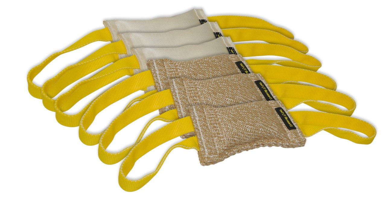Dean & Tyler Bundle of 6 Tugs for Pets, 3-Jute and 3-Fire Hose, 8-Inch by 4-Inch