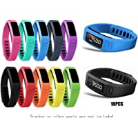 JOMOQ Small Replacement Accessory Wrist Bands with Plastic Clasps for Garmin Vivofit 10PCS(No Tracker, Replacement Bands Only)