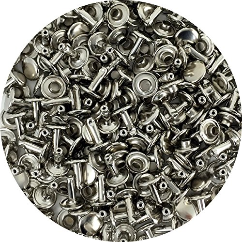 Springfield Leather Company's Nickel Plate Medium Double Cap Rivets 100pk