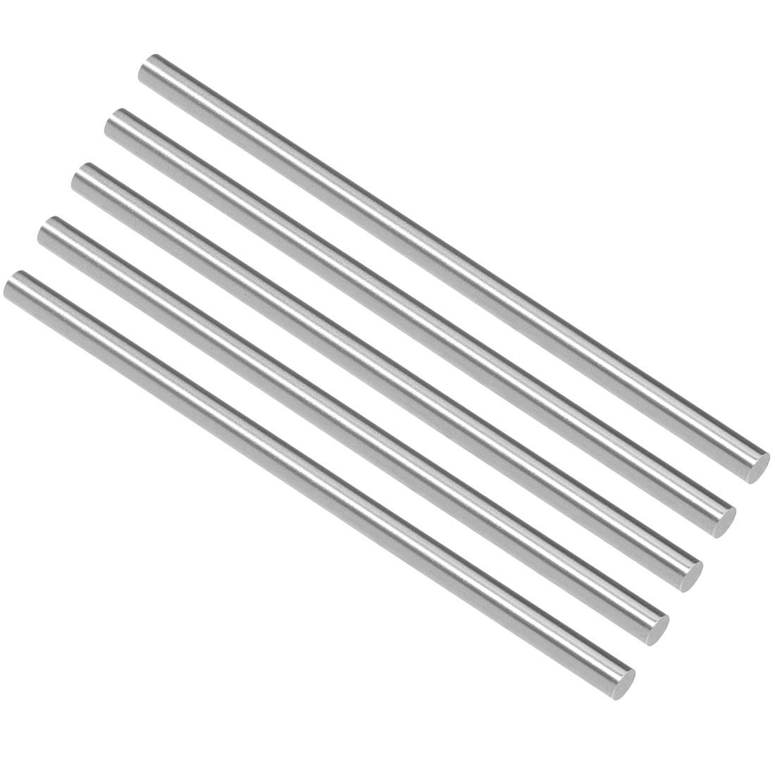 5Pcs Lathe 100mm x 2mm 304 Stainless Steel Axle Round Rod Stock Drill Bar
