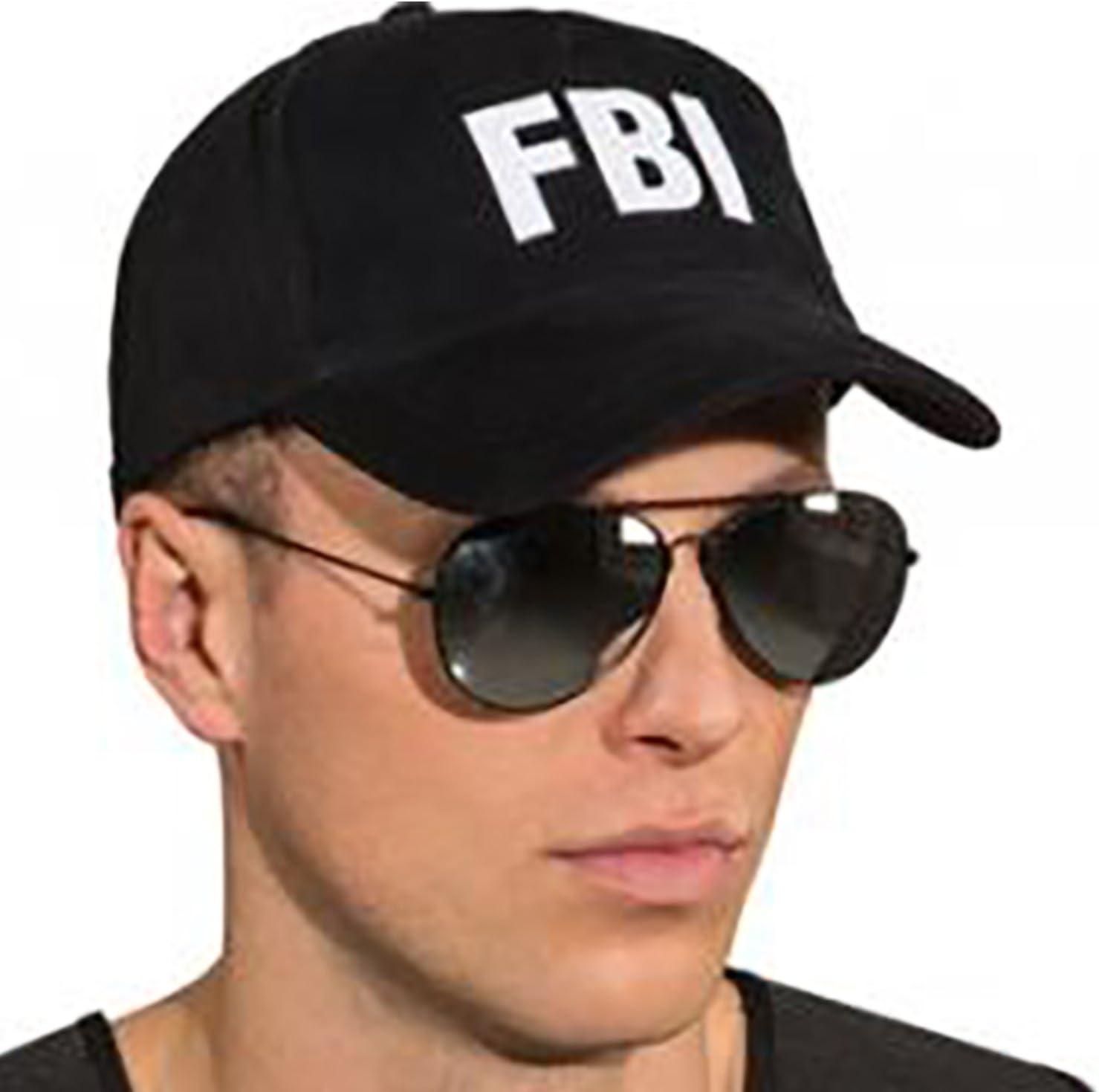 Mottoland GmbH Cap Gorra de béisbol Disfraz de Traje Negro del FBI ...