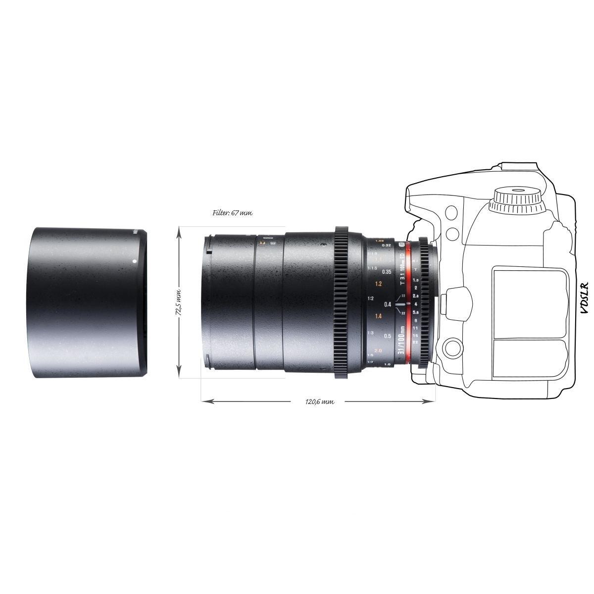 Walimex 20842 Lente de cámara SLR Tele: Amazon.es: Electrónica